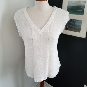 Cyrus casual open knit sleeveless cable sweater